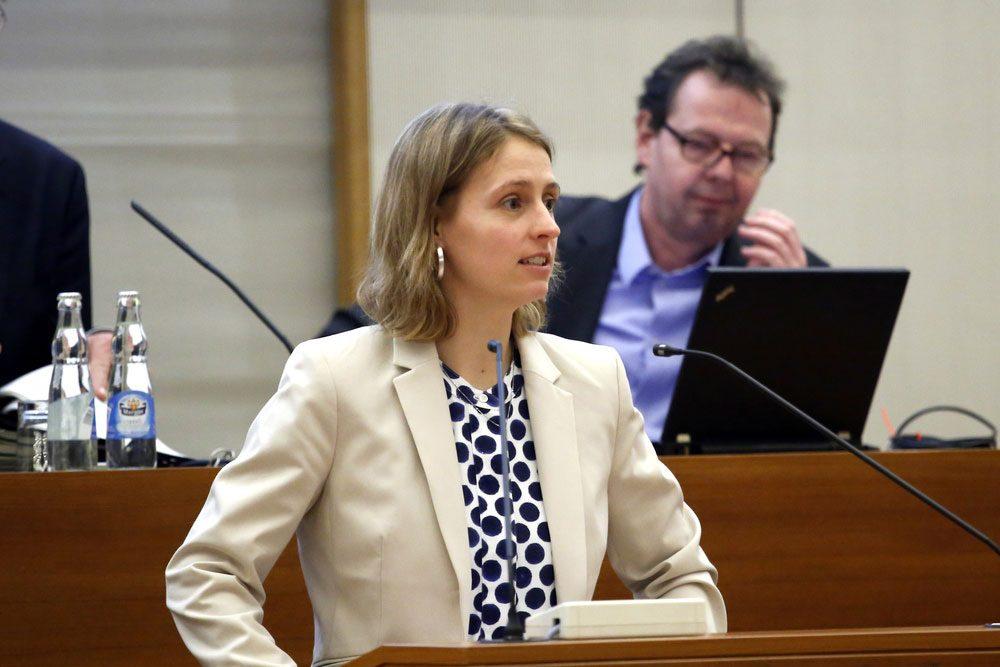 Franziska Riekewald (Linke). Foto: Alexander Böhm