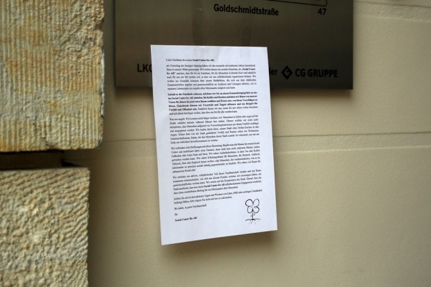 Information für die Anwohner. Foto: Alexander Böhm