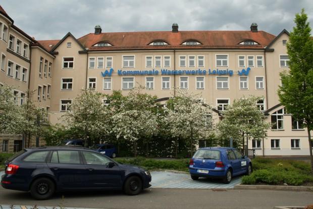 Sitz der Wasserwerke Leipzig. Foto: Ralf Julke