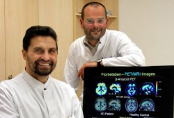 Prof. Sabri (l.) und Prof. Barthel, Klinik für Nuklearmedizin am Universitätskinikum Leipzig., Foto: Ines Christ/UKL