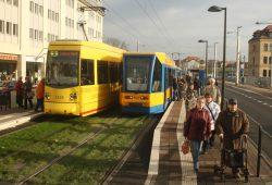 Die Lützner Straße gilt als eine der am stärksten belasteten Straßen in Leipzig. Foto: Ralf Julke