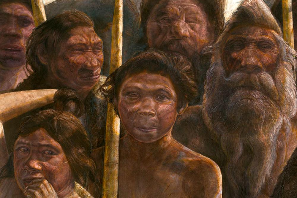 So könnten die Hominiden aus Sima de los Huesos ausgesehen haben. Grafik: MPI für evolutionäre Anthropologie, Kennis & Kennis Madrid Scientific Films