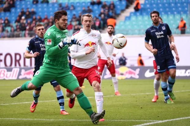 Lukas Klostermann brachte in der 77. RBL in Führung. Foto: Gepa Pictures