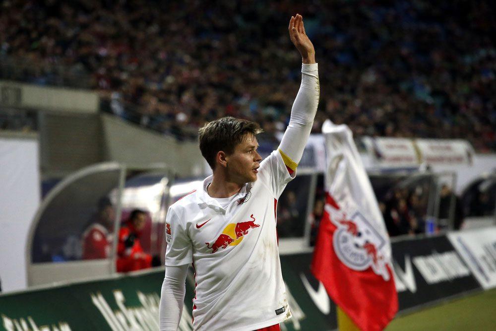 Der erste Bundesliga-Torschütze für RB Leipzig. Trifft Dominik Kaiser auch vor heimischer Kulisse? Foto: A. Böhm