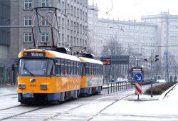 Tatra-Straßenbahn am Augustusplatz. Foto: Ralf Julke