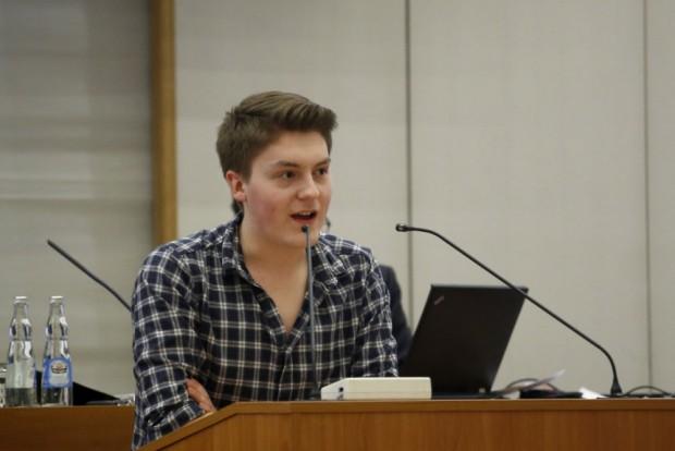 Jugendparlamentarier William Rambow (Linke). Foto: Alexander Böhm