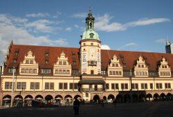 Altes Rathaus am Markt, wo die Hinrichtung stattfand. Foto: Ralf Julke