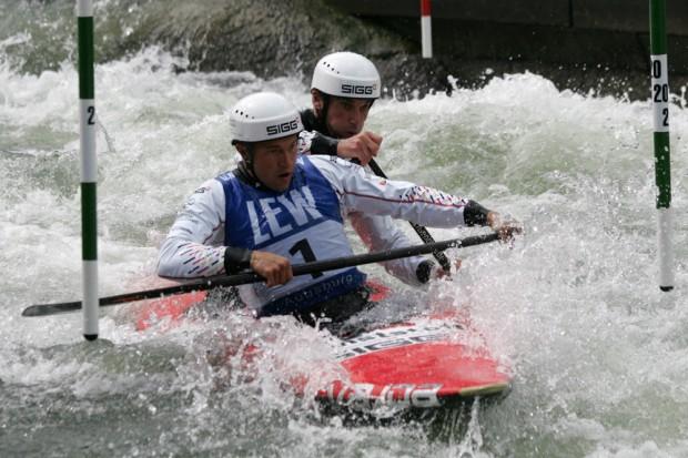 Mit guten Platzierungen steht Franz Anton (vorn) und Jan Benzien die Tür nach Rio offen Foto: Sebastian Beyer
