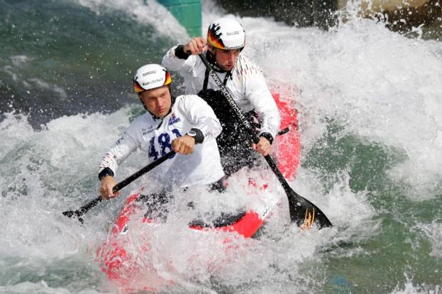 Franz Anton und Jan Benzien siegten im Canadier Zweier (C2). Foto: Sebastian Beyer