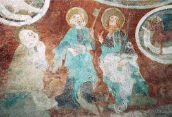 Das Fresko in der Baalsdorfer Kirche. Foto: Kirchenbezirk Leipzig