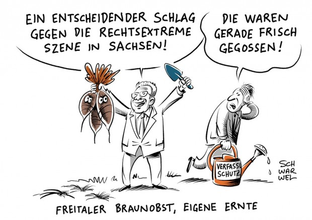 Karikatur: Schwarwel