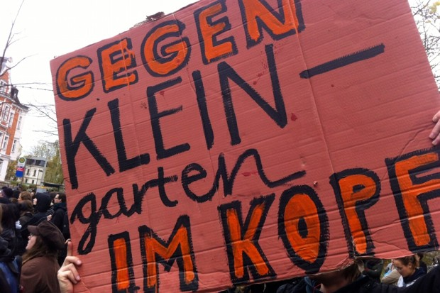 """Immer mal wieder gegen den """"Kleingarten im Kopf"""" anschreiben, auch wenns Ärger hagelt. Foto: L-IZ.de"""