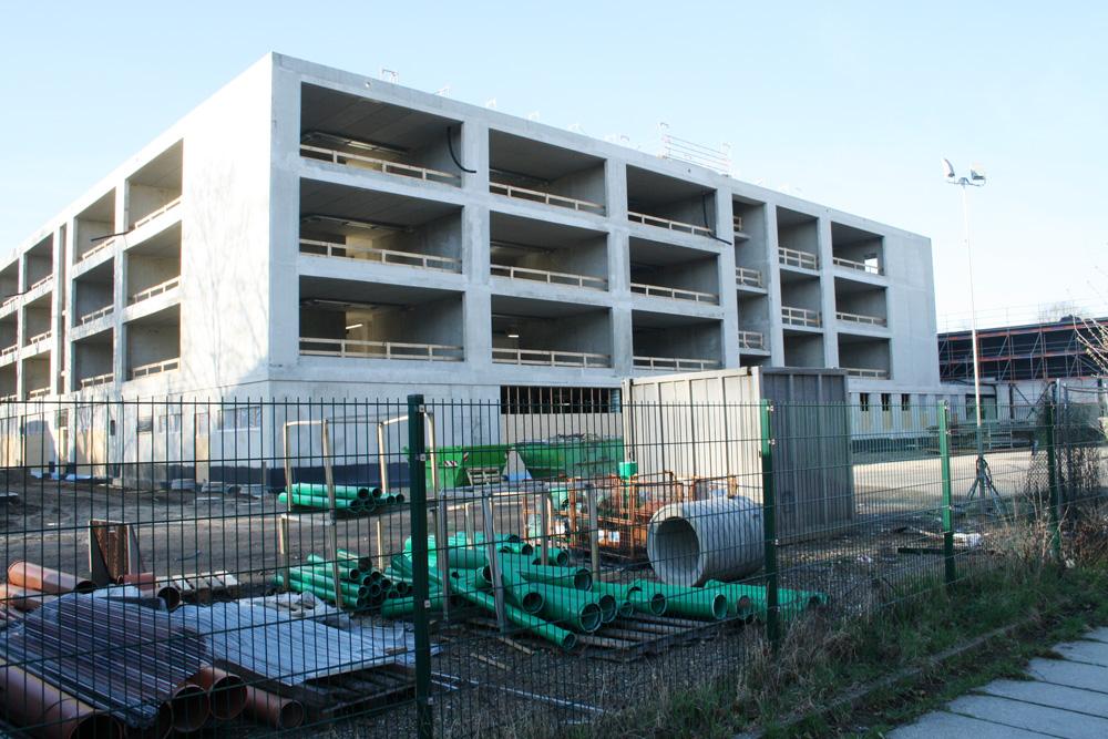 Baustelle für das neue Gymnasium in der Telemannstraße. Foto: Ralf Julke