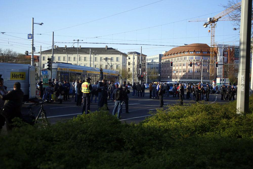 19:00 Uhr. Legida steht heute im Abseits. Foto: L-IZ.de