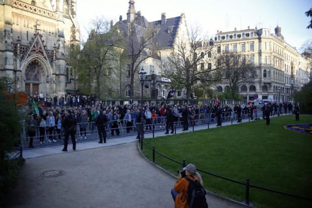 Erwartet vom Gegenprotest. Foto: L-IZ.de