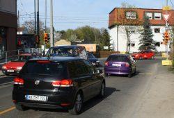 Ampelsituation an der Kreuzung Matzelstraße (unten) und Bornaische Straße (oben). Foto: Ralf Julke