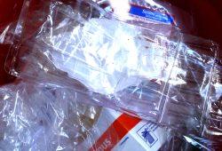 Ein Berg von entleerten Verpackungen. Foto: L.IZ
