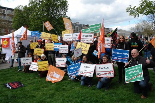 90.000 sagen in Hannover Nein zu TTIP und CETA. Foto: Attac