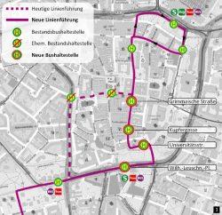 Der Vorschlag des Ökolöwen zur neuen Linienführung des Bus 89. Karte: Ökolöwe