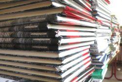 Eingesammelte Schulbücher zum Schuljahreswechsel. Foto: Marko Hofmann