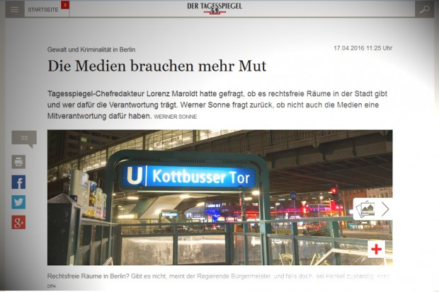 "Wünsch-mir-was im ""Tagesspiegel"". Screenshot: L-IZ"