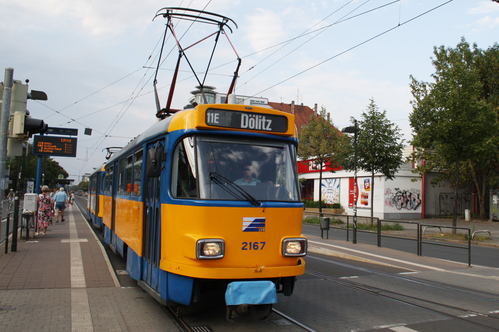 Tatra-Straßenbahn am Connewitzer Kreuz. Archivfoto: Ralf Julke