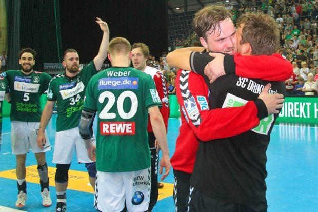 Neben Torhüter Felix Storbeck hieß es für fünf weitere DHfK-Handballer Abschied nehmen vom Leipziger Publikum. Foto: Jan Kaefer