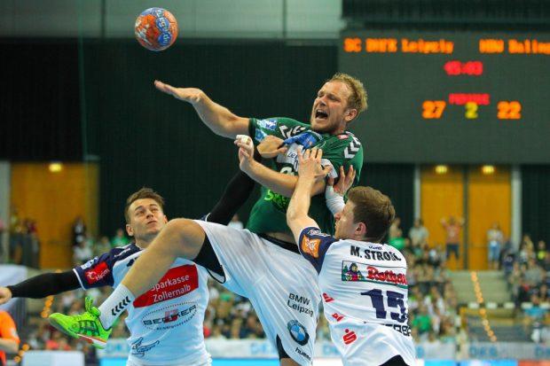 Sein letztes Heimspiel für den SC DHfK bestritt auch Sergey Zhedik. Foto: Jan Kaefer