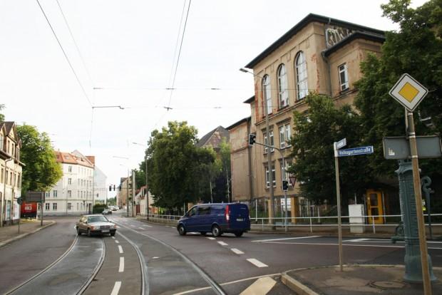 Schulgebäude in der Gorkistraße vor Beginn des Umbaus. Foto: Ralf Julke