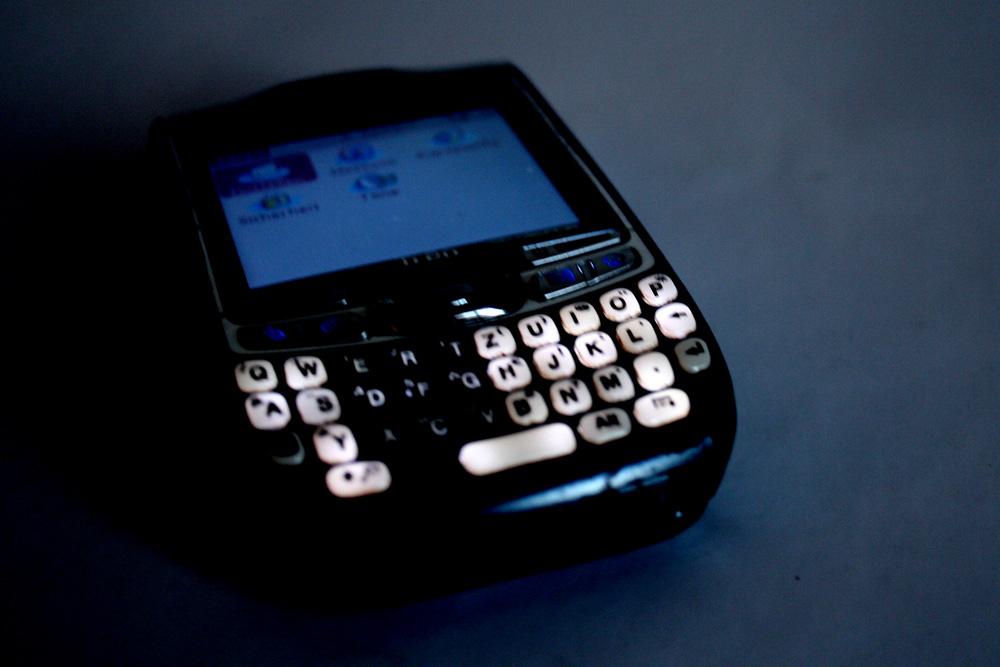 Handy im Dunkeln. Foto: L-IZ