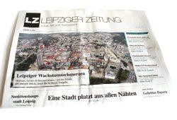 """Mai-Ausgabe der """"Leipziger Zeitung"""". Wachstumsschmerzen. Foto: L-IZ"""