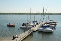 Auch der Markkleeberger See gehört zum Kontrollrevier der Wasserschutzpolizei. Foto: Ralf Julke