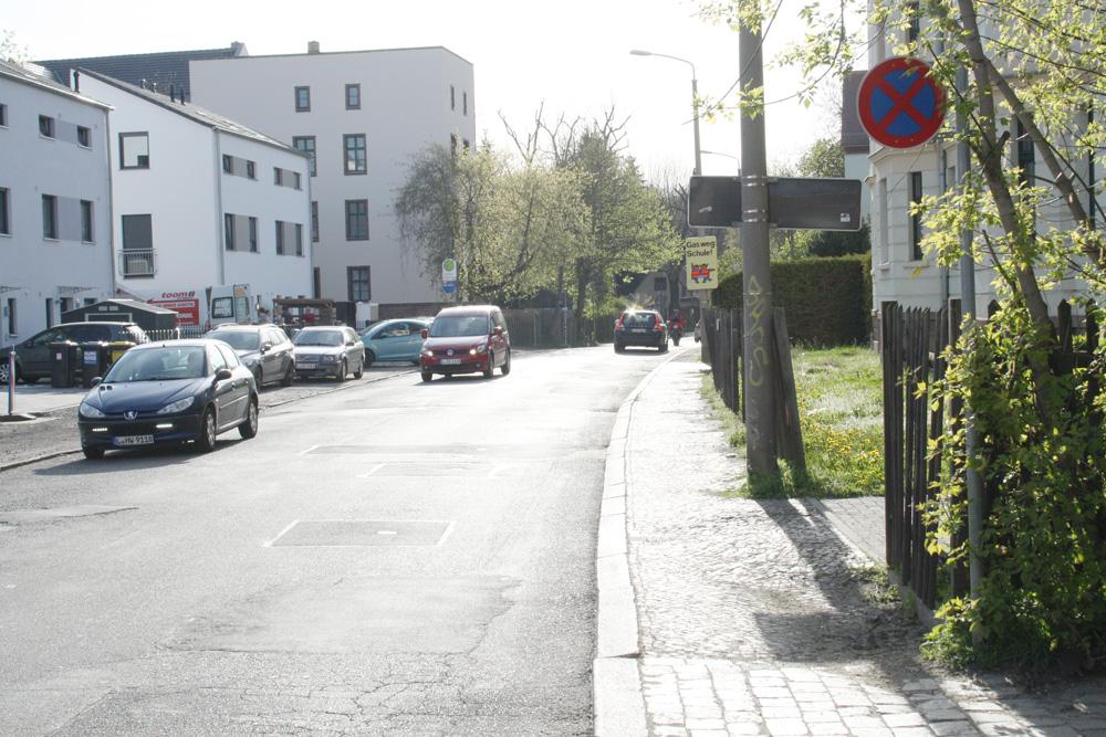 Die Matzelstraße in Dölitz. Foto: Ralf Julke