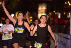 Beim Nachtlauf. Foto: Laufszene Sachsen