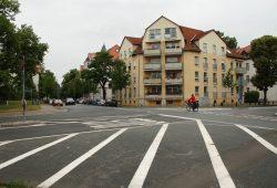 Ludolf-Colditz-Straße: Hier muss die richtige Verkehrsführung noch gefunden werden. Foto: Ralf Julke