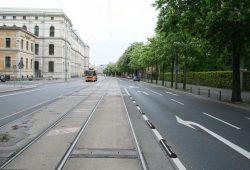 Prager Straße zwischen Johannisplatz und Gutenbergplatz. Foto: Ralf Julke