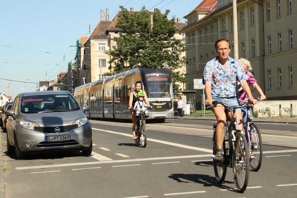 Wer zählt denn nun die Radfahrer in der Georg-Schumann-Straße? Archivfoto: Ralf Julke