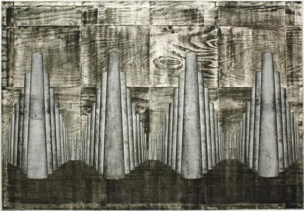Oliver Stäudlin: Orgel (Holzdruck, 2013). Foto: ff15