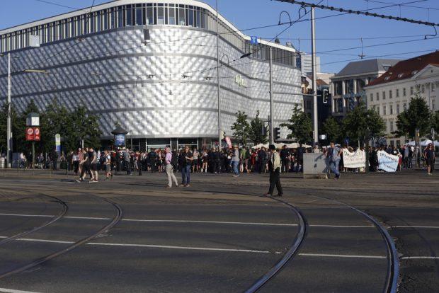 19:00 Uhr: Platznehmen heute auf dem Richard-Wagner-Platz. Foto: L-IZ.de