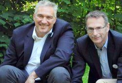 Im Interview: Alexander Malios und Dietmar Link. Foto: Julian Rossig