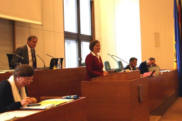 Dr. Skadi Jennicke im Leipziger Stadtrat. Foto: L-IZ.de