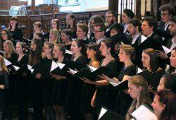 Die Sängerinnen und Sänger der deutsch-französischen Chorakademie. Foto: Bach-Archiv Leipzig/Gert Mothes