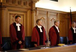 Der 6. Senat des Bundesverwaltungsgerichts unter Vorsitz von Richter Ingo Kraft (M.). Foto: Alexander Böhm