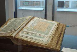 Aufwendig gestaltet und unter Sicherheitsaspekten hergestellt, sind historische Wertpapiere Ausdruck unserer Industriekultur. Foto: Museum für Druckkunst Leipzig