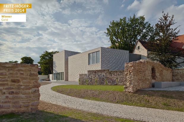 """""""Von M"""", Stuttgart: Museum Luthers Sterbehaus, Lutherstadt Eisleben. Winner Gold in der Kategorie """"Öffentliche Bauten, Sport und Freizeit"""", Fritz-Höger-Preis 2014. Foto: Zooey Braun"""