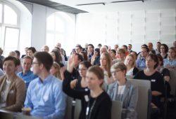 Zum HR Innovation Day trafen sich am 28.Mai 2016 rund 150 internationale HR-Expertinnen und Experten an der HTWK Leipzig. Foto: Kristina Denhof/HTWK Leipzig