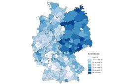Mindestlohnbetroffenheit nach Durchschnittsbruttolöhnen 2014. Karte: Bundesamt für Statistik
