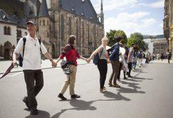 Menschenkette gegen Rassismus. Foto: Leona Goldstein / Campact