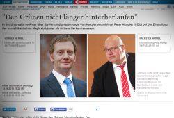 Michael Kretschmers Wortmeldung in der HAZ. Screenshot: L-IZ