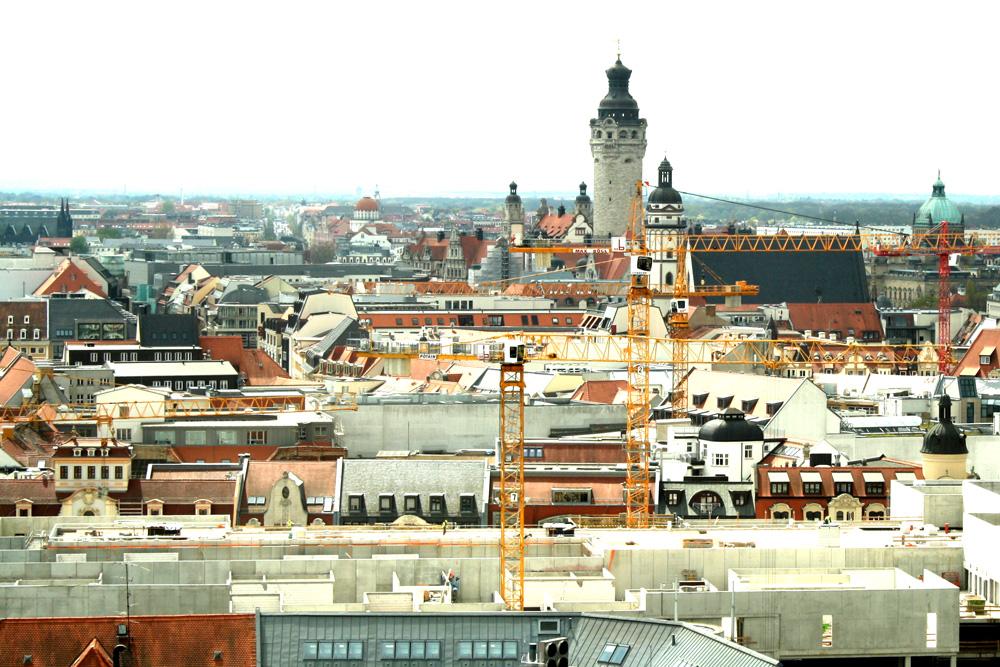 Über den Dächern von Leipzig. Foto: Ralf Julke